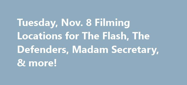 Tuesday, Nov. 8 Filming Locations for The Flash, The Defenders, Madam Secretary, & more! http://filmanons.besaba.com/tuesday-nov-8-filming-locations-for-the-flash-the-defenders-madam-secretary-more/  Here's a look at some of the movies and TV shows filming on location on Tuesday, Nov. 8: Filming in British Columbia TV Series: The Flash Stars: Grant Gustin Location: BC Place Credit: @WhatsFilming TV Series: Supernatural Stars:Jensen Ackles Location: Roosters Country Cabaret, Pitt Meadows…