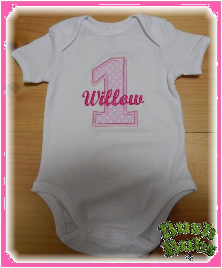 Personalised Birthday romper/Body suit/onesie