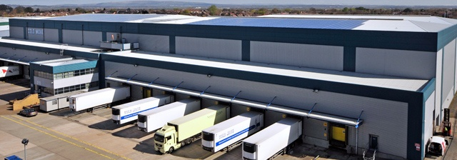 Logistics & Distribution Cold Move - the largest on-roof installation of solar panels in the north of England!