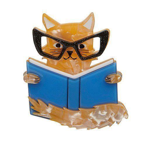 Erstwilder Puss In Books brooch   | eBay