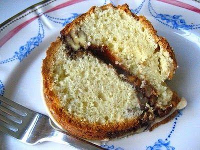 Cinnamon Pecan Coffee Cake with Maple Glaze