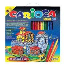 Kifestő színező 56 darabos filctoll készlet Carioca Scenic 3D Kingdom Ft Ár 3,690