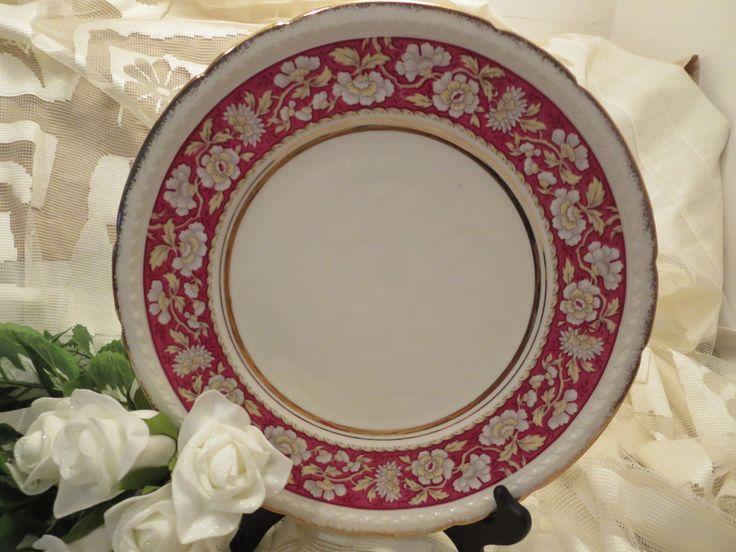 Beautiful Dinner Plate - Swinnertons Staffordshire England - Majestic Vellum by AntiquesandCoinsJL on Etsy