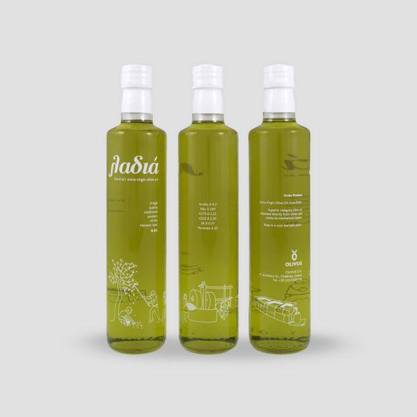λαδιά // ladia - extra virgin olive oil by Vagelis Gkravaritis, via Behance