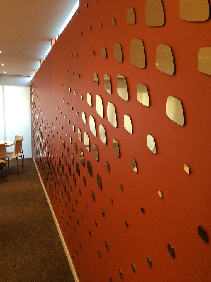 Feature wall in the Airbus Group Chalet @ FIDAE, Santiago de Chile by Proj-X Design.  www.proj-x.com.au