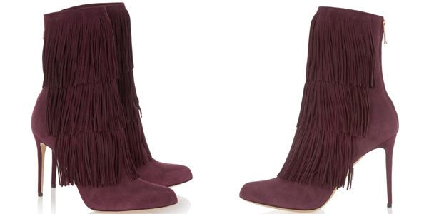 Ankle boots with fringe, Taos by Paul Andrew