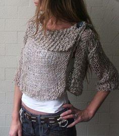 sweater en dos agujas y crochet - Buscar con Google