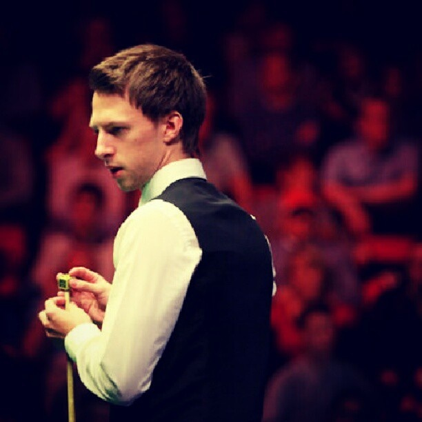 #judd #trump is working in welsh open 2013 #snooker #handsome