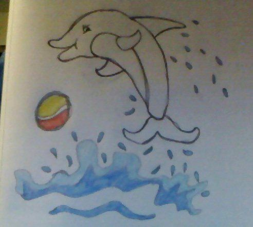 (Not best quality picture) Dolphin (: