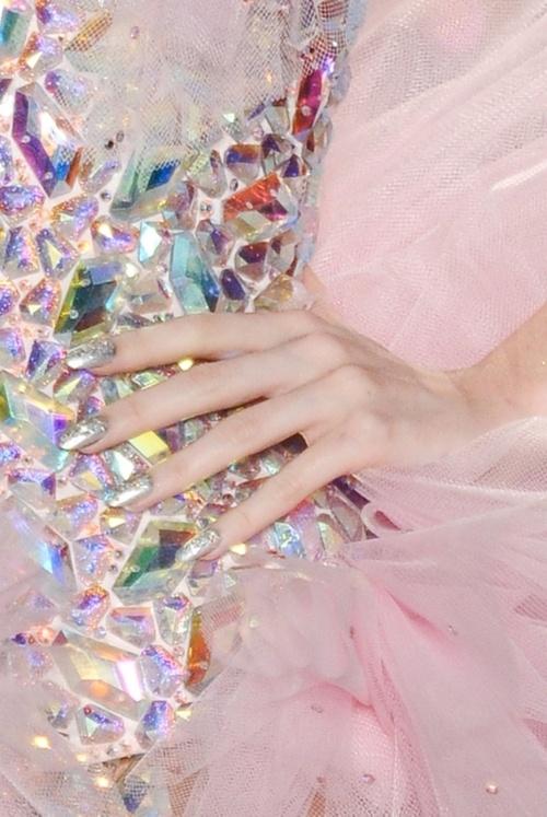 Swarovski crystals on a dress