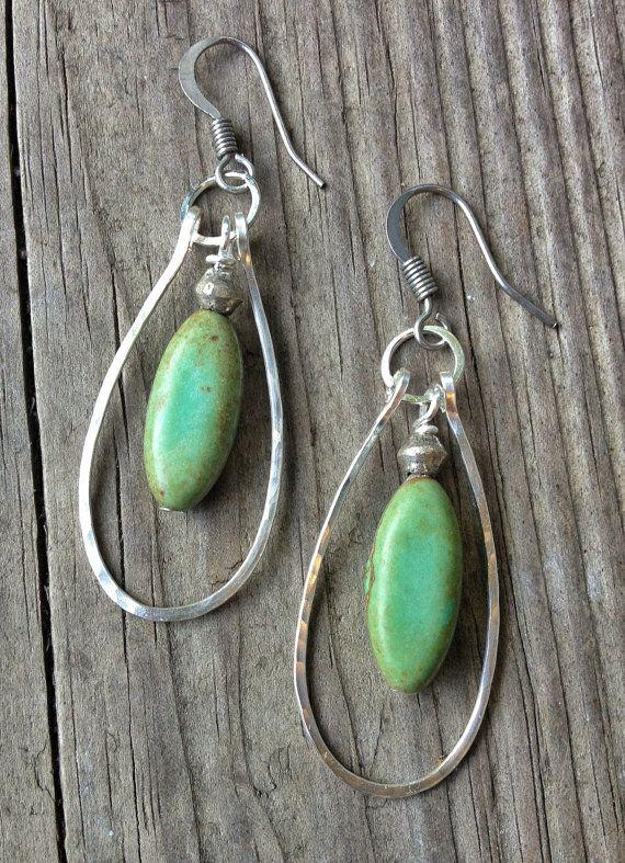 Handmade Earrings / Blue Green Turquoise Earrings / by Lammergeier, $24.00 ~ Awesome !!