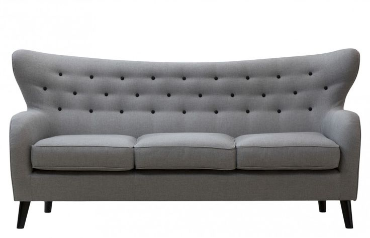 Wilfred Three Seater Sofa in Stone Grey