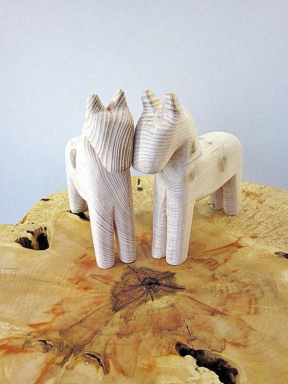 Wooden horse Scandinacvian horse handmade wooden horse by Holeybox