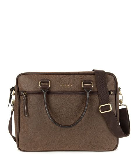 Scotch grain document bag - Chocolate | Bags | Ted Baker