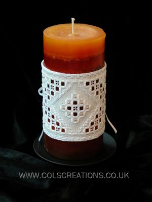 Cols Creations - Traditional Hardanger Charts - Candle Wraps Are Simple But Elegant Designs That Make A Beautiful Gift
