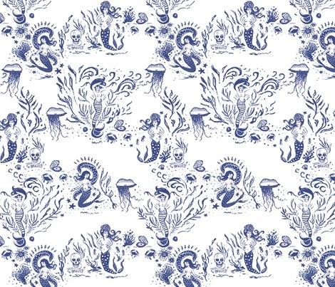 Rrmermaid\_toile2\_spoonflower\_contest33988previewNavy Pink Fabrics, Fabrics I M, Mermaid Allure, Allure Toile, Mermaid Mad, Custom Fabrics, Fabrics Crafts Sewing Supplies, Navypink Fabrics, Spoonflower