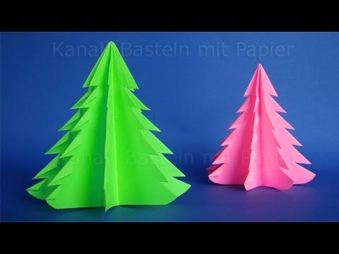 Paper christmas tree: Christmas crafts - DIY christmas decoration - YouTube