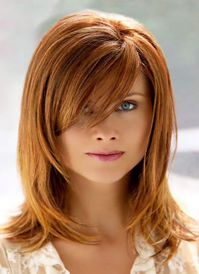 different styles of hair with pictures haircuts for medium hair with side bangs and layers 4336