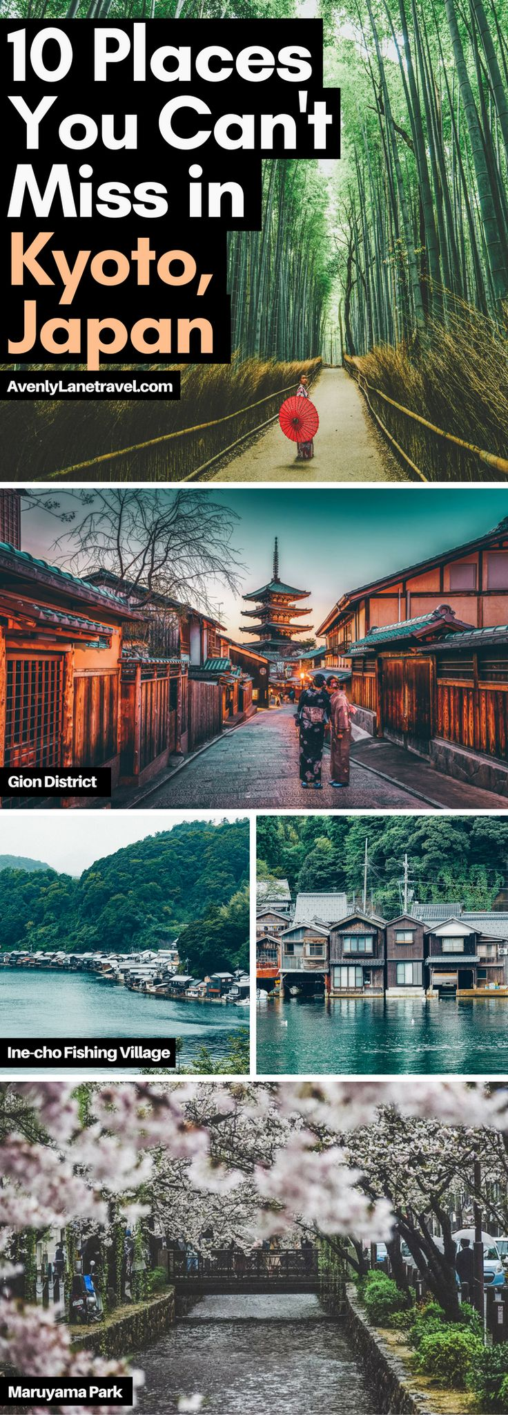 Discover the Top 10 Things to do in Kyoto, Japan! From the incredible bamboo forest to the beautiful shrines and temples, Kyoto is definitely a city you do NOT want to miss when you are traveling to Japan. Read the full article at http://www.avenlylanetravel.com/best-things-to-do-in-kyoto-japan/ #avenlylanetravel #kyoto #japan #travel