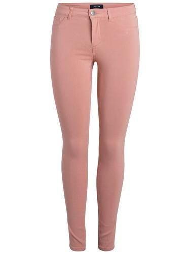 #PIECES #Damen #Jeggings #Normal #Waist #pastellrot - Skinny Fit - Gürtelschlaufen - Knopf- und Reißverschluss