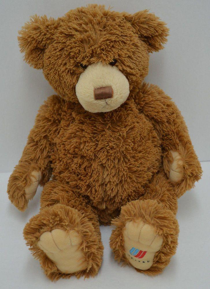 "Gund Kenny Hugyou Teddy Bear Plush United Airlines Brown Bean Bag 18"" #46540 #GUND"