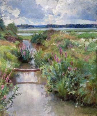 Kukkivaa kesää 1918, Eero Jarnefelt (1863–1937) - Jarvenpaan taidemuseo
