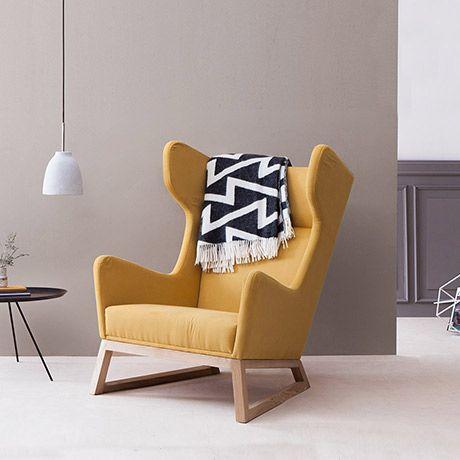 Die besten 25+ Sessel gelb Ideen auf Pinterest Senf wohnzimmer - wohnideen wohnzimmer gelb