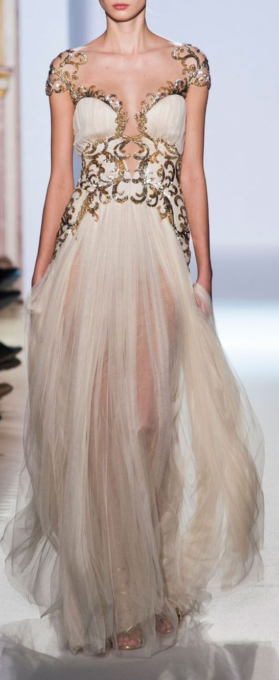Not that I would EVER in a million years have an occasion to wear that, but WOW!   Goddess gown / zuhair murad 2013