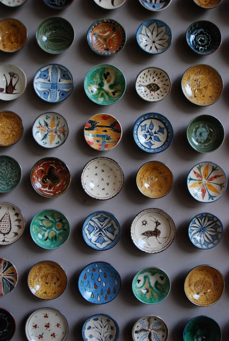 Test bowls from Uzbekistan - I found it so charming. Tiny but so detailed.