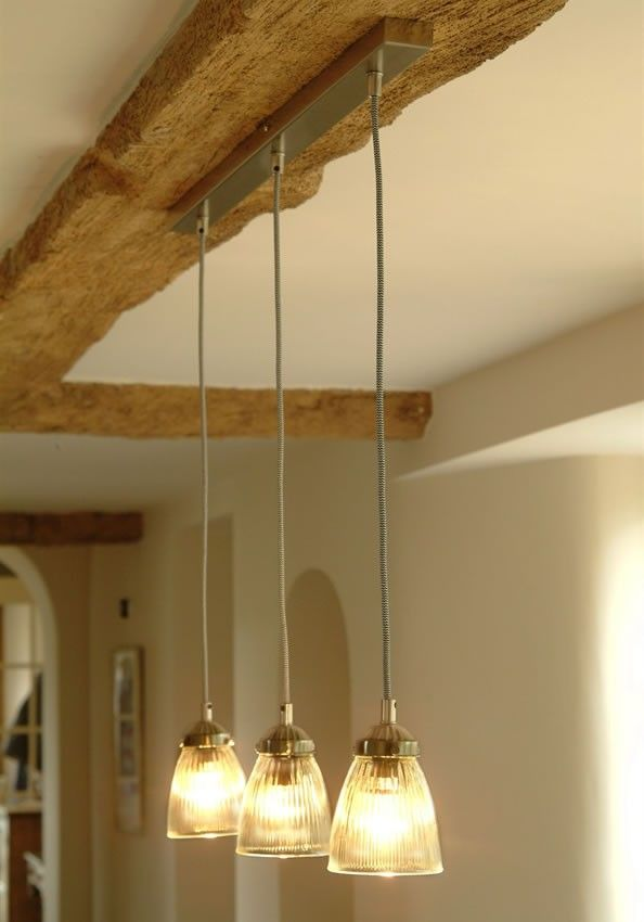 Parisian Bistro Trio Glass Pendant Lights from stylish life.co.uk