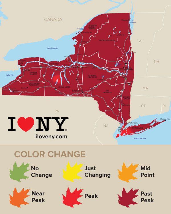 Fall Foliage Map Week 9 110916