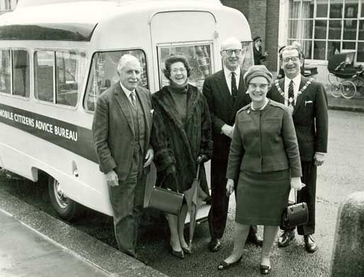 Another CAB bus. This time being met by a very happy looking civic delegation