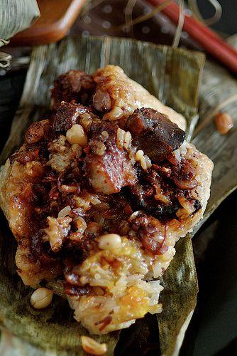 Cantonese Savory Glutinous Rice Dumplings/Zongzi (粽子) - *note to self- ask mom for recipe*