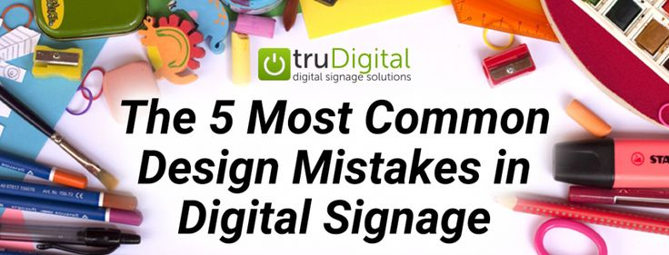 The 5 Most Common Design Mistakes in Digital Signage  Believe me creating well designed content takes practice. Most content creators learn the basics of how to use their digital media software and stop their education there. Im here to tell you that there is always room for improvement.  In the first blog of this series Design matters in digital signage I explained how design has a huge impact on attracting and retaining audiences. In this blog lets focus on what not to do when creating a…
