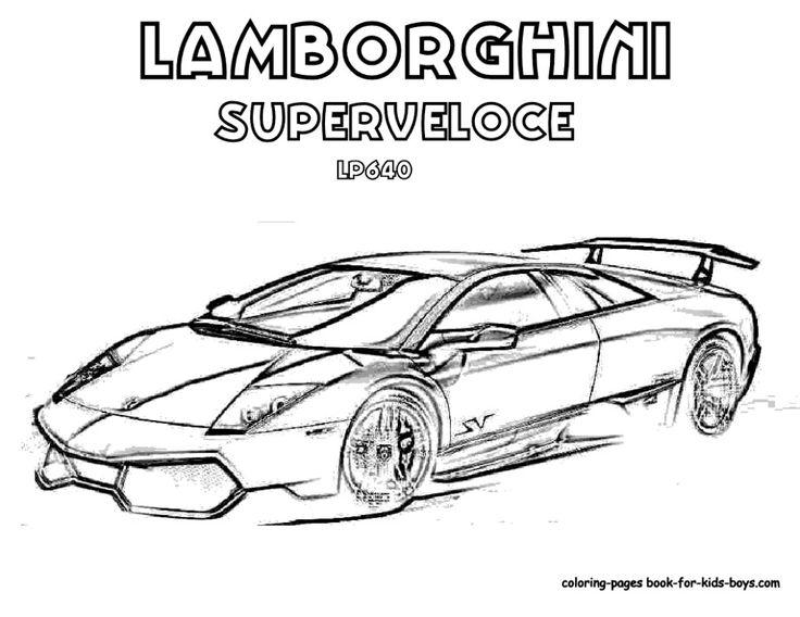 Lamborghini Coloring Pages