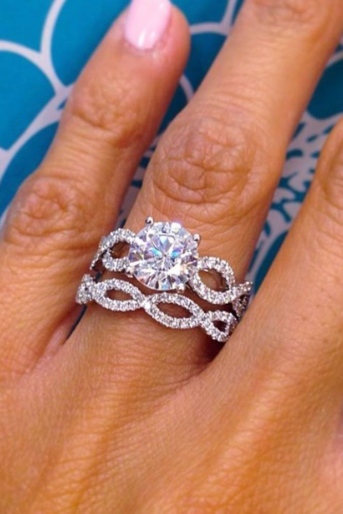 18 White Gold Engagement Rings To Conquer Your Love ❤️ white gold engagement rings unique ring set round cut ❤️ More on the blog: https://ohsoperfectproposal.com/white-gold-engagement-rings/ #engagementrings