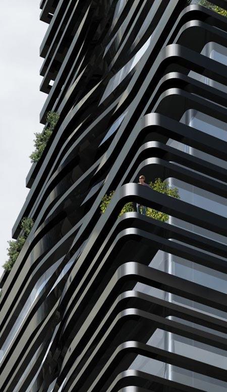 5 Franklin Place in New York designed by Dutch architect Ben van Berkel of…
