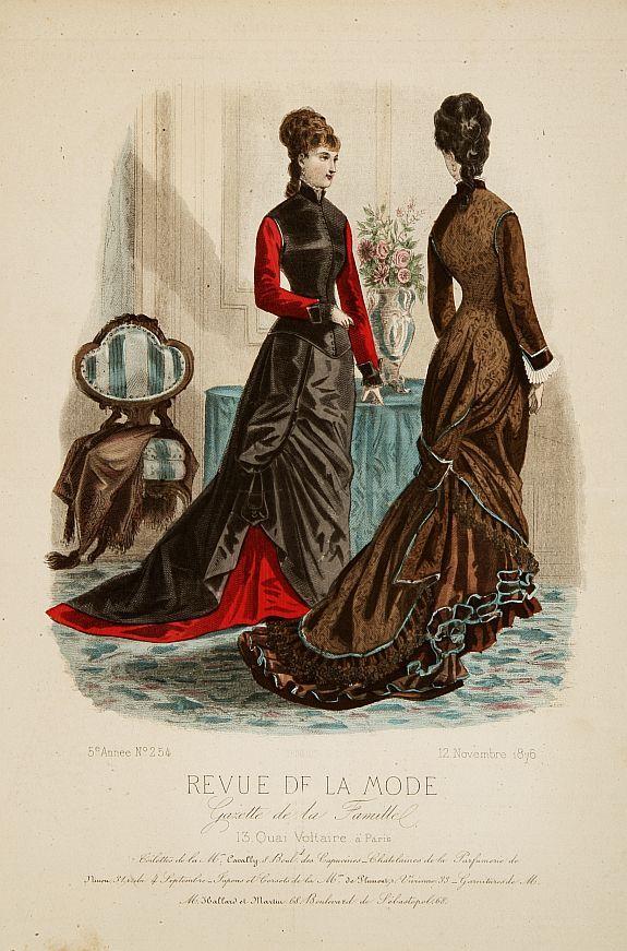 REVUE DE LA MODE - Paris fashion plate. (254), published in Paris 1876.