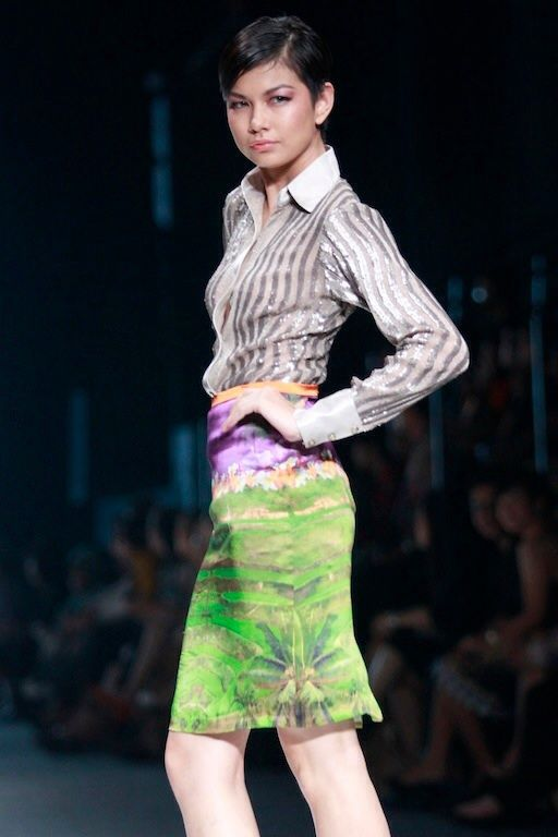 #BILLYTJONG Our 1st Ready To Wear Printed dress on Jakarta Fashion Week13 on Nov 2012 Look 5