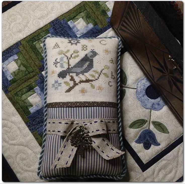 "168 Likes, 29 Comments - Leona (@littlequiltmaker) on Instagram: ""Two little finishes this week. Design by Brenda Gervais With Thy Needle &Thread. #crossstitch…"""
