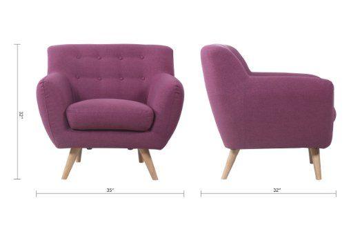 Best Amazon Com Mid Century Purple Modern Living Room Accent 400 x 300