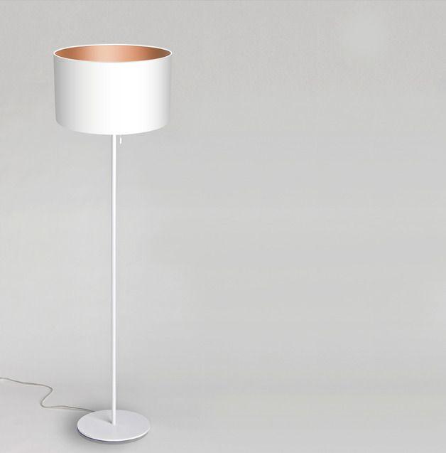 Stehlampen - GOOD NIGHT JOHN BOY Stehleuchte in weiss/kupfer - ein Designerstück von DROOM bei DaWanda