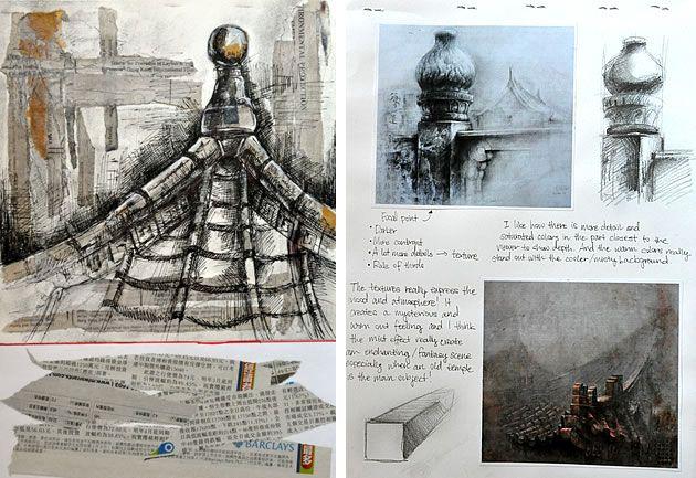 GCSE Art architectural structure