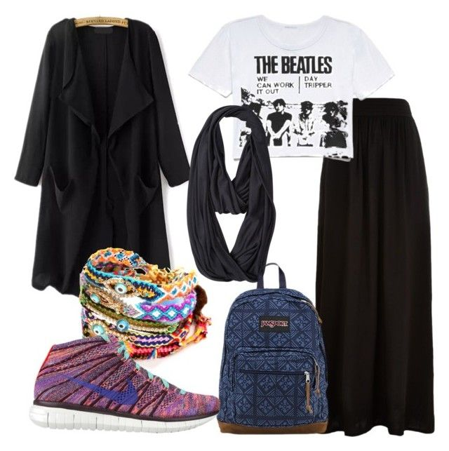 """""""Hijab Black n white sporty"""" by citra-sebayang ❤ liked on Polyvore"""