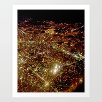 Paris from the sky Art Print by Katie George - $15.00