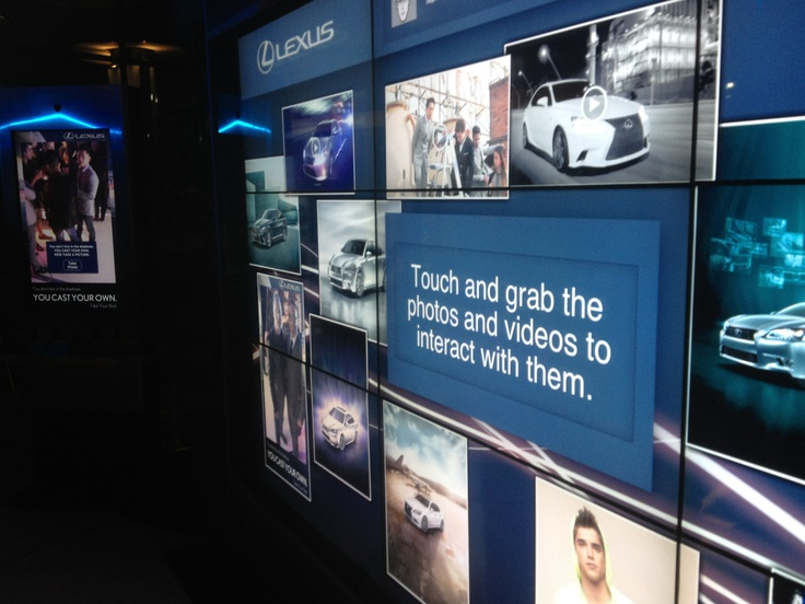 Interactive Touch Screen Wall for Lexus