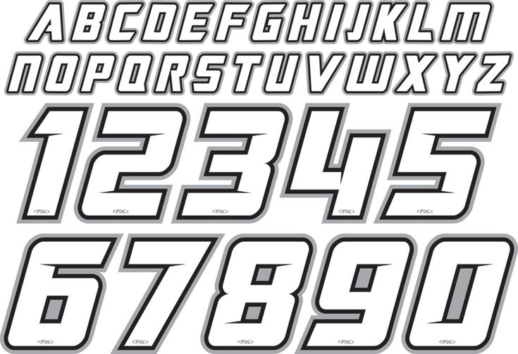 Factory Effex Jersey Iron On Id Kit Lettering Fonts Lettering Numbers Font