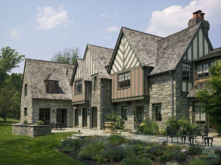 Экстерьер дома в стиле фахверк: дизайн фасада и внешняя отделка на фото