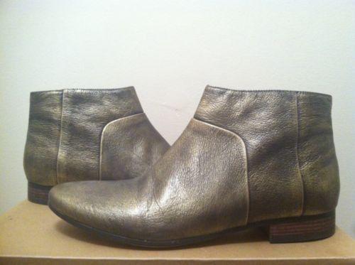 Cole Haan Allen Bootie Black Metallic Brush Off Women's Fashion Ankle Boots 8 N