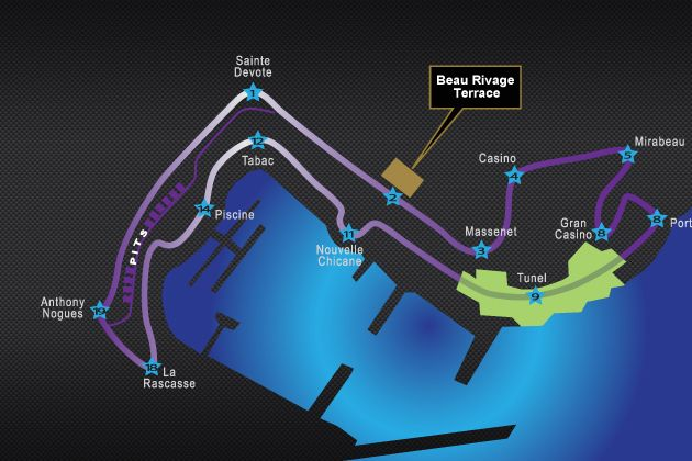 Beau Rivage Terrace - Monaco Grand Prix